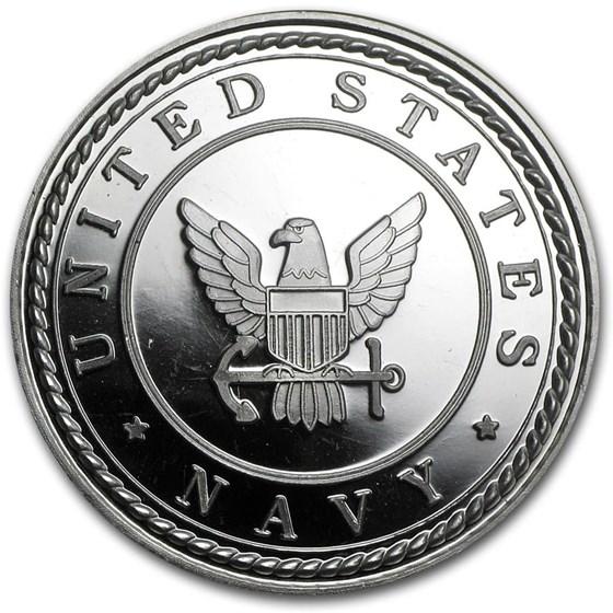 1 oz Silver Round - U.S. Navy