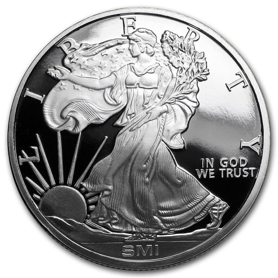 1 oz Silver Round - Walking Liberty (Mint Mark SI)