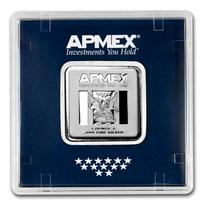 1 oz Silver Square Bar - APMEX (Encapsulated w/Assay)