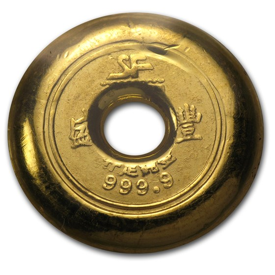 1 Tael Gold Round - Chinese Button (Type 2, 1.2057 oz)