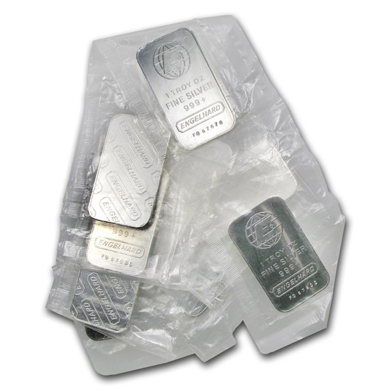 (10) 1 oz Engelhard Silver Bars (Tall, E, Sealed)