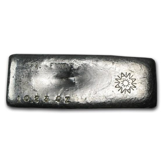 10.23 oz Silver Bar - A W Smelter