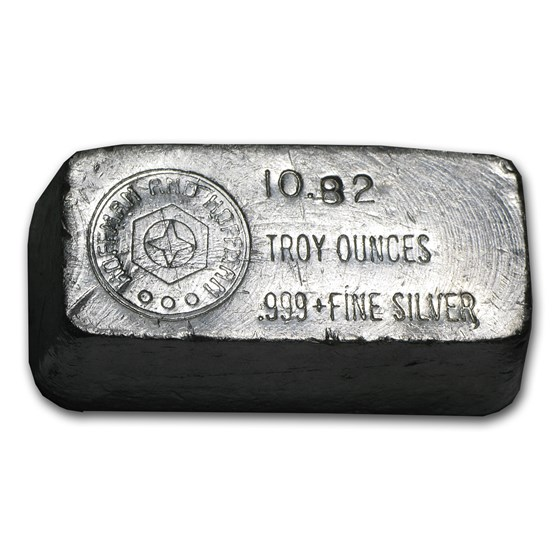10.82 oz Silver Bar - Hoffman & Hoffman