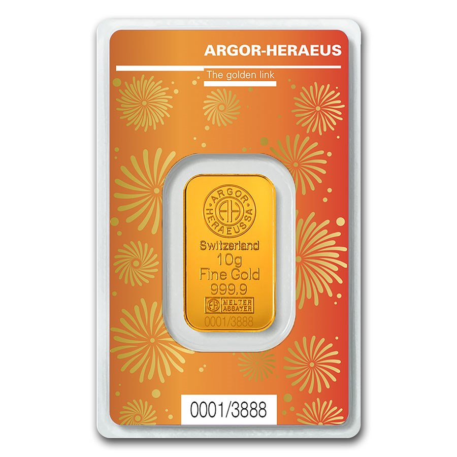 10 gram Gold Bar - Argor-Heraeus Year of the Ox (In Assay)