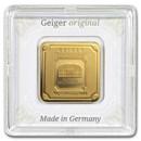 10 gram Gold Bar - Geiger Edelmetalle (Encapsulated w/Assay)
