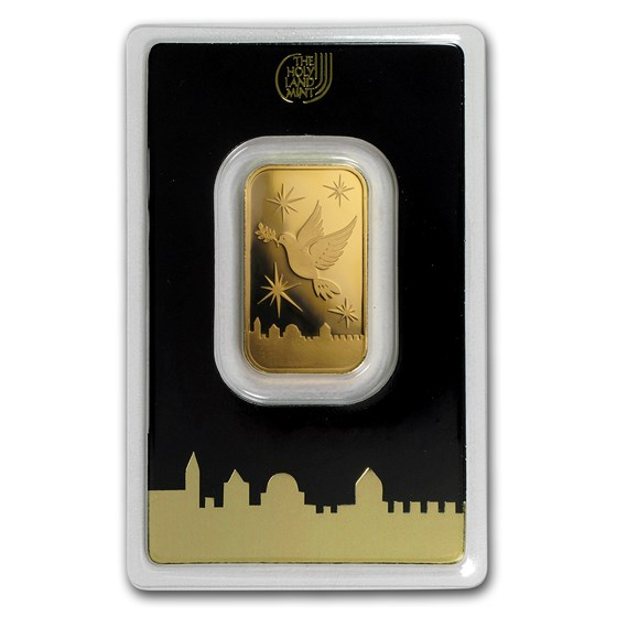 10 gram Gold Bar - Holy Land Mint Dove of Peace