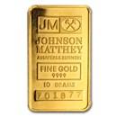 10 gram Gold Bar - Johnson Matthey