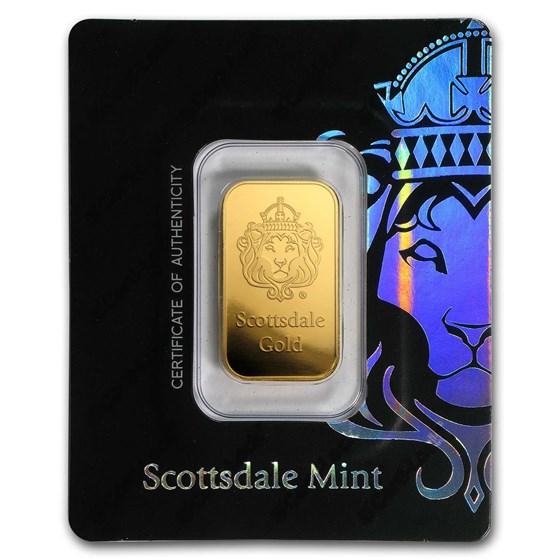 10 gram Gold Bar - Scottsdale Mint (In Certi-Lock® Assay, Black)