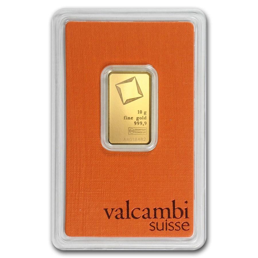 10 gram Gold Bar - Valcambi (In Assay)