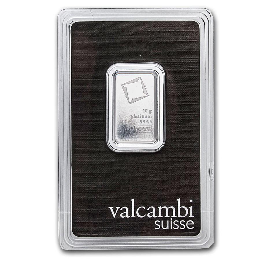 10 gram Platinum Bar - Valcambi (In Assay)