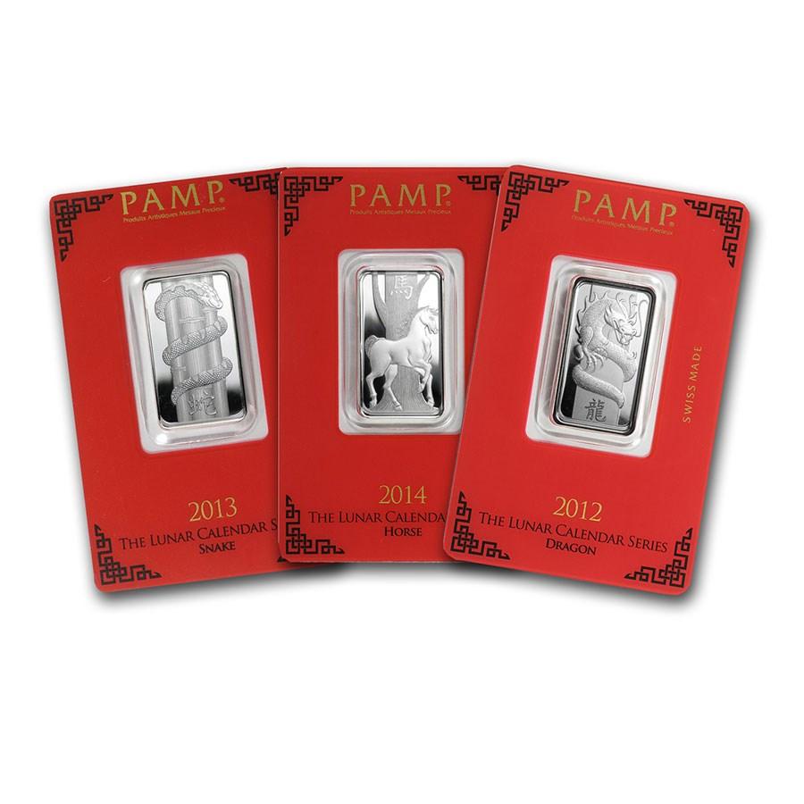 10 gram Silver Bar - PAMP Suisse (Lunar, Random Design)