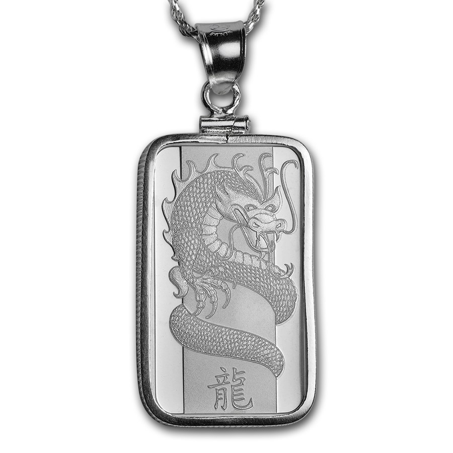 10 gram Silver - PAMP Suisse Pendant (w/Chain)