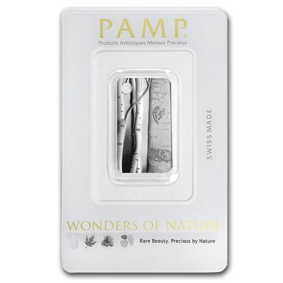 10 gram Silver Pendant - PAMP Suisse Ingot (Birch Trees)