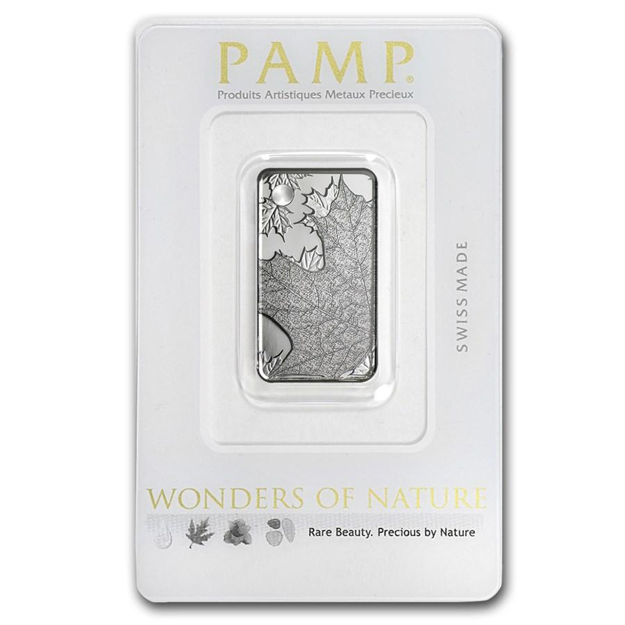10 gram Silver Pendant - PAMP Suisse Ingot (Maple Leaf)