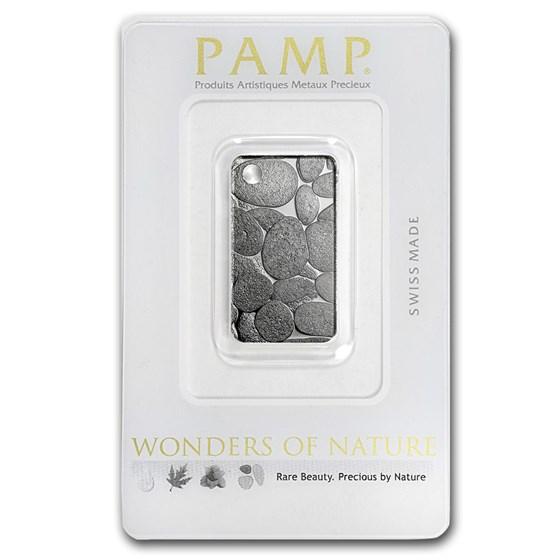 10 gram Silver Pendant - PAMP Suisse Ingot (River Stones)