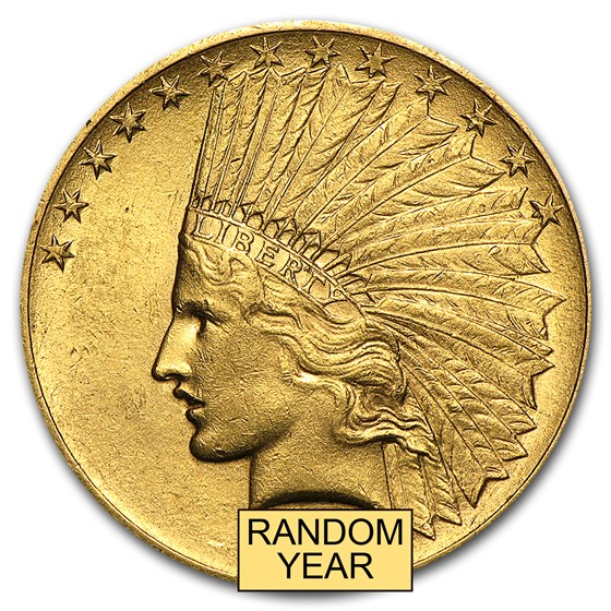 $10 Indian Gold Eagle AU (Random Year)