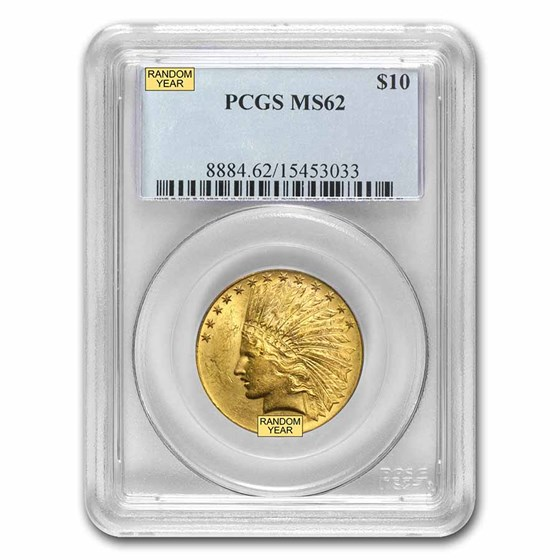 $10 Indian Gold Eagle MS-62 PCGS (Random)