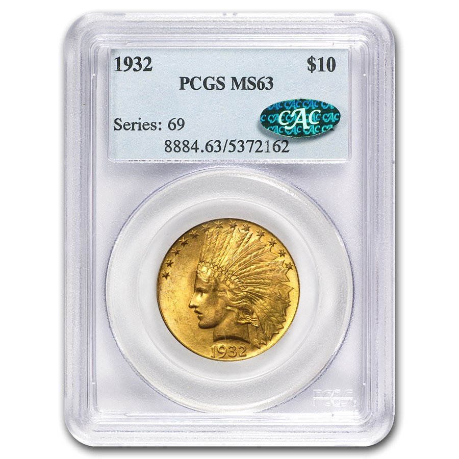 $10 Indian Gold Eagle MS-63 PCGS/NGC (CAC)