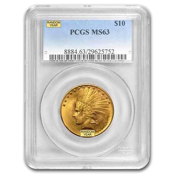 $10 Indian Gold Eagle MS-63 PCGS (Random)