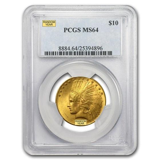 $10 Indian Gold Eagle MS-64 PCGS (Random)