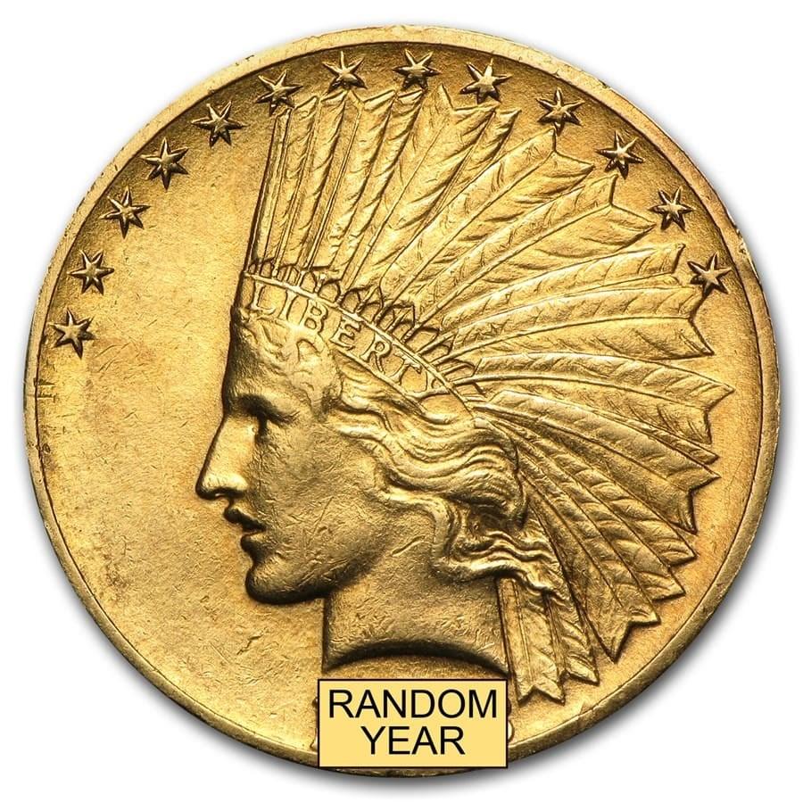 $10 Indian Gold Eagle XF (Random Year)
