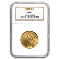 $10 Liberty Gold Eagle MS-61 NGC (Random)