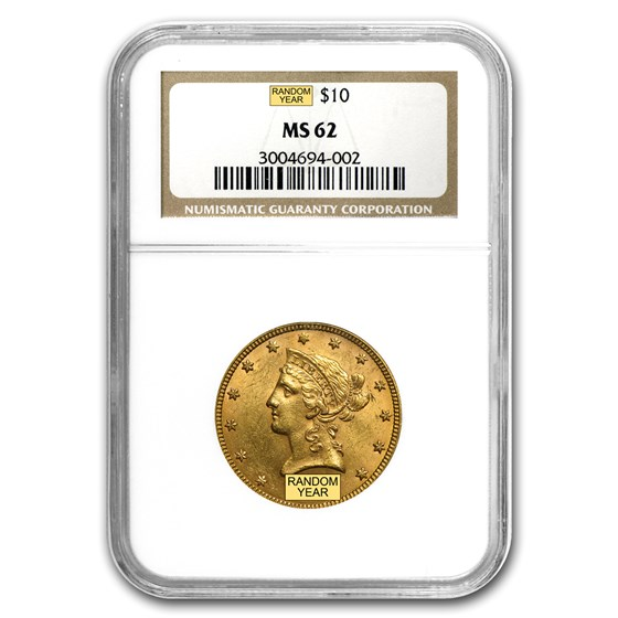 $10 Liberty Gold Eagle MS-62 NGC (Random)