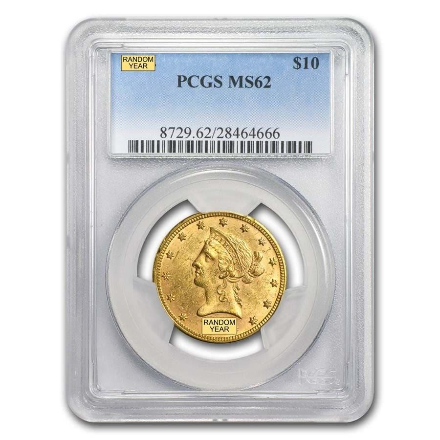 $10 Liberty Gold Eagle MS-62 PCGS (Random)