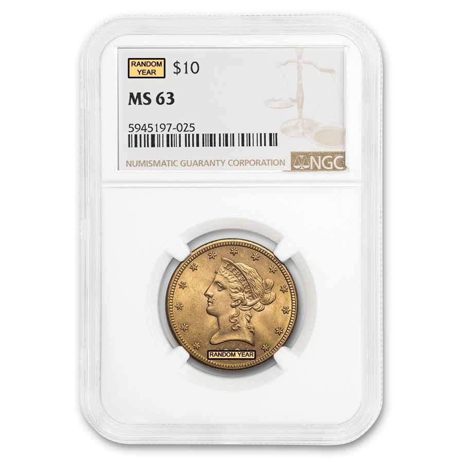 $10 Liberty Gold Eagle MS-63 NGC (Random)
