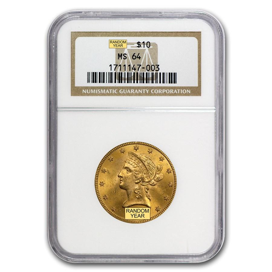 $10 Liberty Gold Eagle MS-64 NGC (Random)