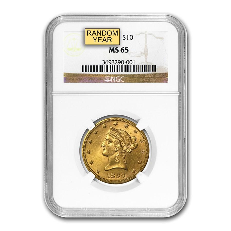 $10 Liberty Gold Eagle MS-65 NGC (Random)