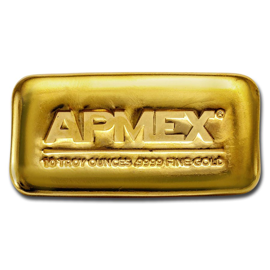 10 oz Cast-Poured Gold Bar - APMEX