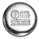 10 oz Cast-Poured Silver Round - 9Fine Mint