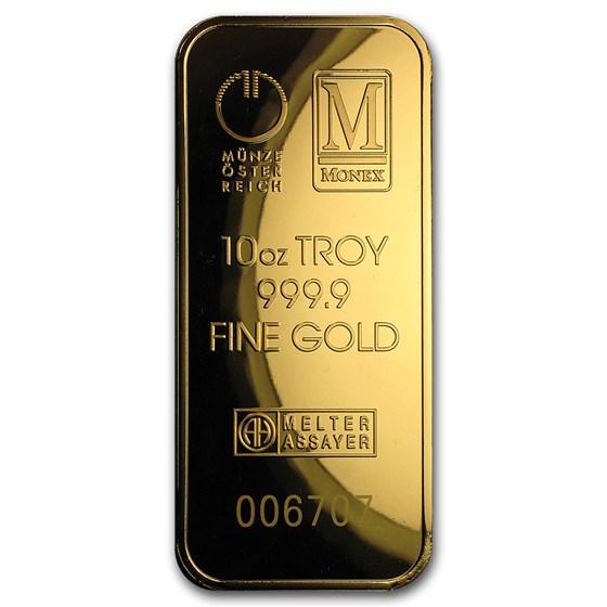 10 oz Gold Bar - Austrian Mint