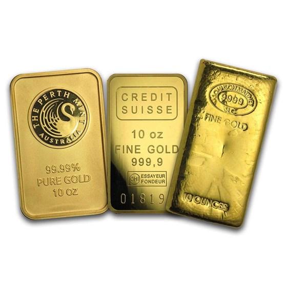 10 oz Gold Bar - Brand Name