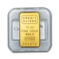 10 oz Gold Bar - Credit Suisse (w/New Assay)