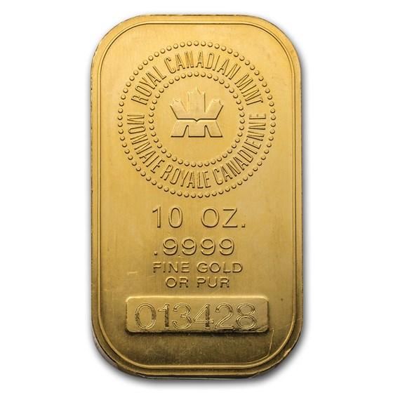 10 oz Gold Bar - Royal Canadian Mint RCM
