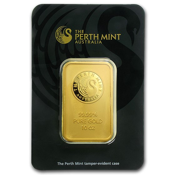 10 oz Gold Bar - The Perth Mint (In Assay)
