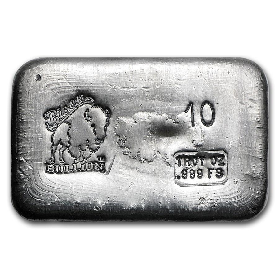 10 oz Hand Poured Silver Bar - BB