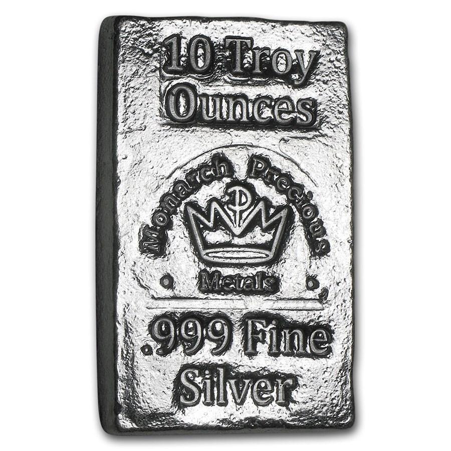 10 oz Hand Poured Silver Bar - MPM
