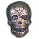 10 oz Hand Poured Silver Skull - Day of the Dead: Heart