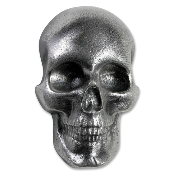 10 oz Hand Poured Silver Skull - Limited Edition