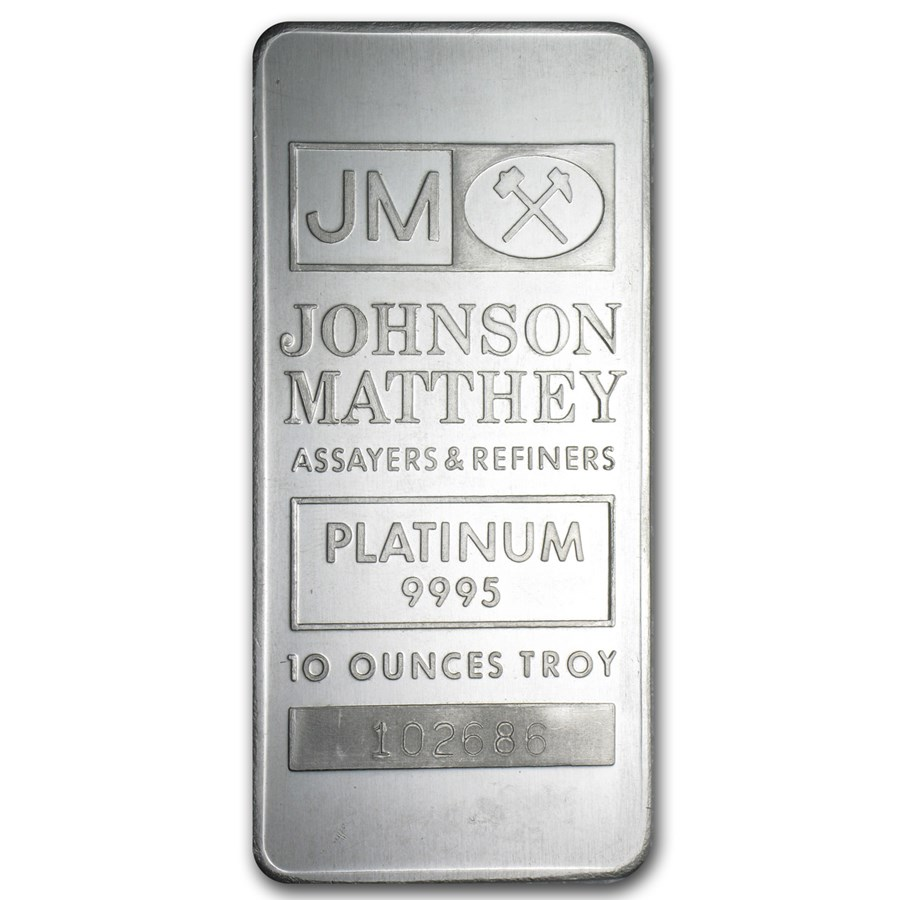 10 oz Platinum Bar - Johnson Matthey