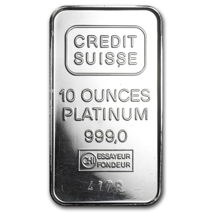 10 oz Platinum Bar - Secondary Market (.999+ Fine)