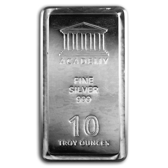 10 oz Silver Bar - Academy (Stackable)