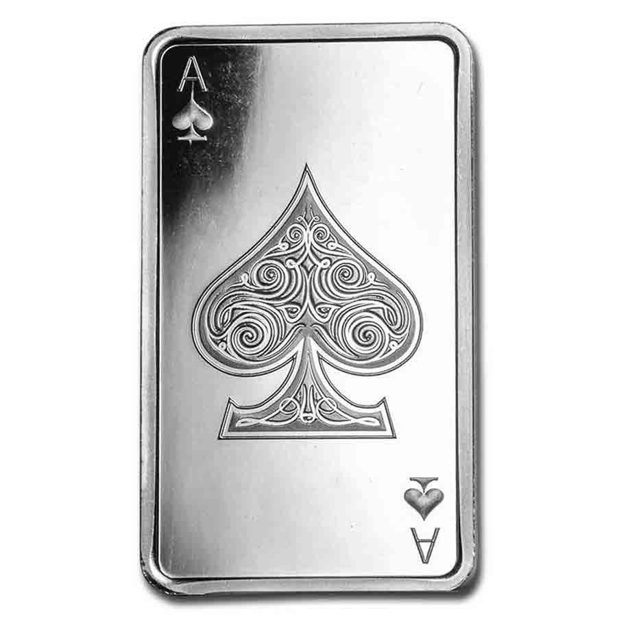 10 oz Silver Bar - Ace of Spades