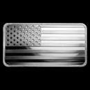 10 oz Silver Bar - American Flag Design