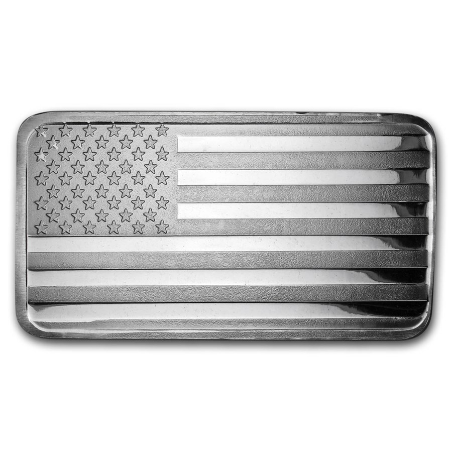 10 oz Silver Bar - American Flag Design