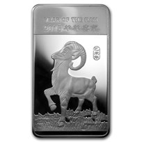 10 oz Silver Bar - APMEX (2015 Year of the Ram)