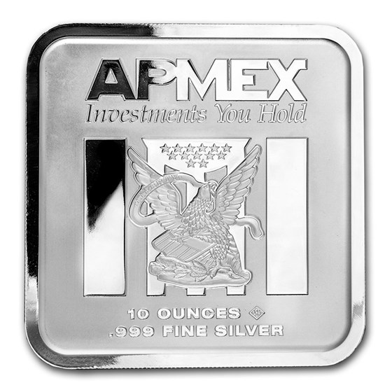 10 oz Silver Bar - APMEX (Square Series)